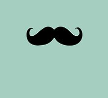 Funny Black Mustache 4 by Nhan Ngo