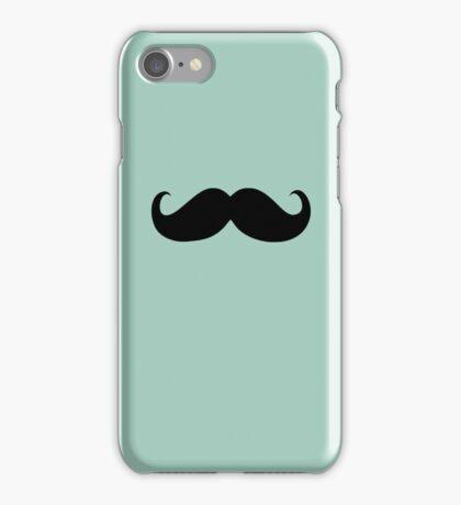 Funny Black Mustache 4 iPhone Case/Skin