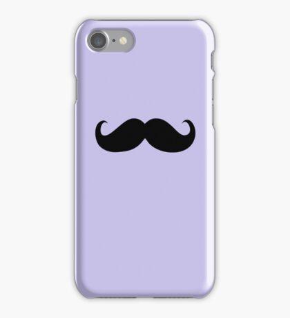 Funny Black Mustache 5 iPhone Case/Skin