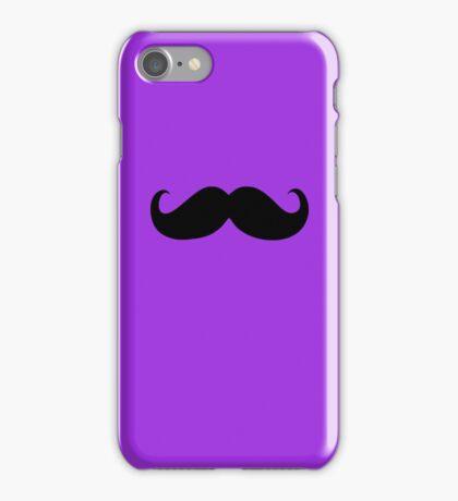 Funny Black Mustache 6 iPhone Case/Skin