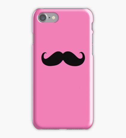 Funny Black Mustache 9 iPhone Case/Skin