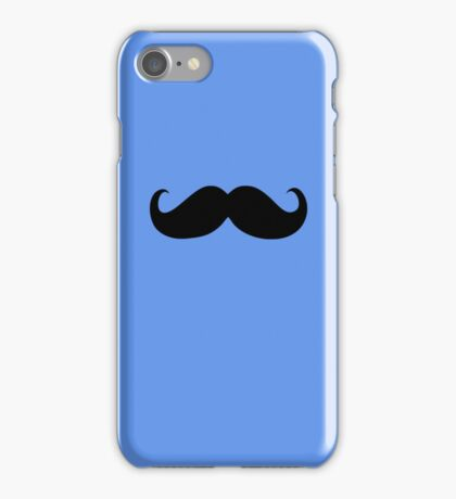 Funny Black Mustache 11 iPhone Case/Skin