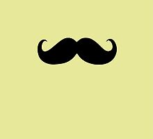 Funny Black Mustache 14 by Nhan Ngo