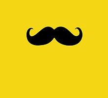 Funny Black Mustache 19 by Nhan Ngo