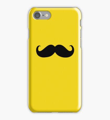 Funny Black Mustache 19 iPhone Case/Skin