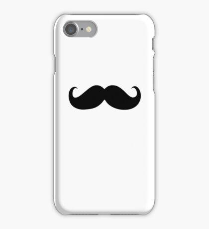 Funny Black Mustache 21 iPhone Case/Skin