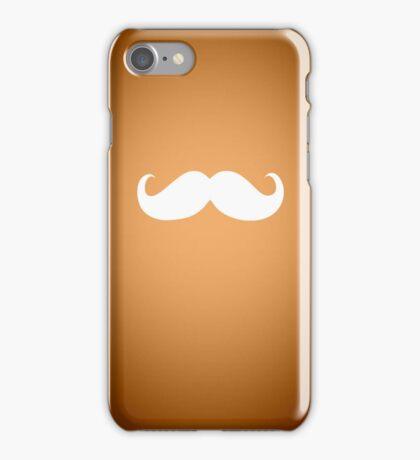 Funny white mustache 1 iPhone Case/Skin