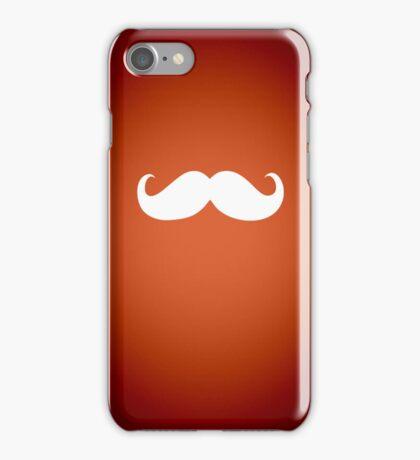 Funny white mustache 2 iPhone Case/Skin