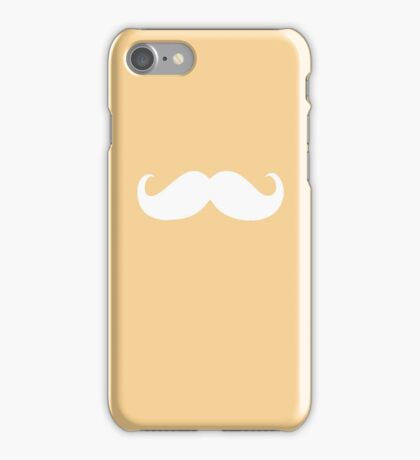 Funny white mustache 3 iPhone Case/Skin