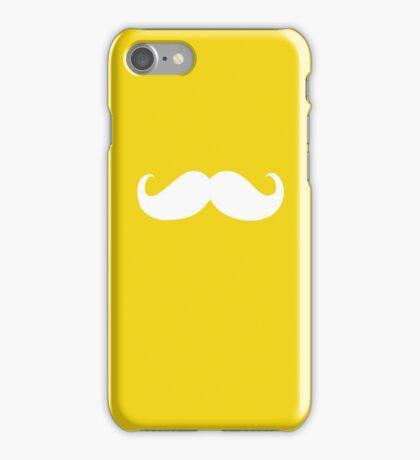Funny white mustache 7 iPhone Case/Skin