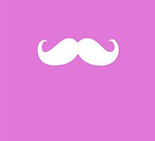 Funny white mustache 8 by Nhan Ngo