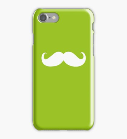 Funny white mustache 10 iPhone Case/Skin