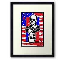 Hunter.S.Thompson. The Playing Card. Framed Print