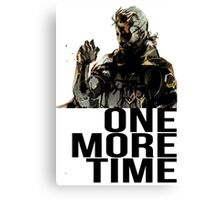 Metal Gear Solid - One More Time Canvas Print