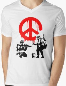 Peace Soldiers Mens V-Neck T-Shirt