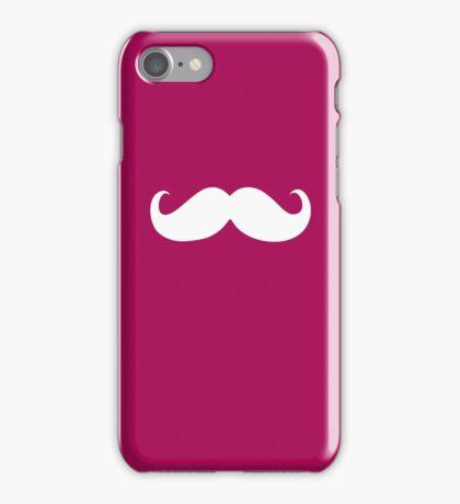 Funny white mustache 16 iPhone Case/Skin