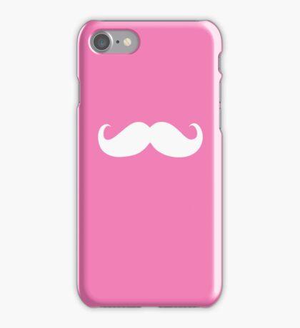Funny white mustache 18 iPhone Case/Skin