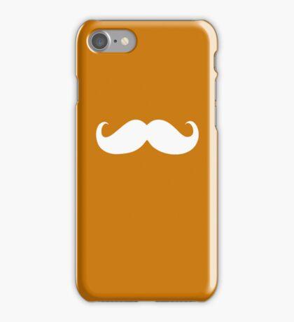 Funny white mustache 21 iPhone Case/Skin