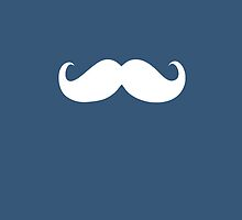 Funny white mustache 23 by Nhan Ngo