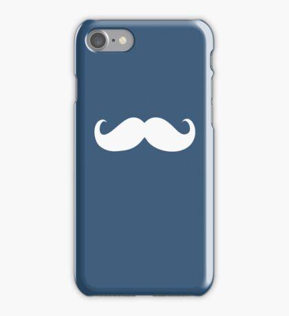 Funny white mustache 23 iPhone Case/Skin