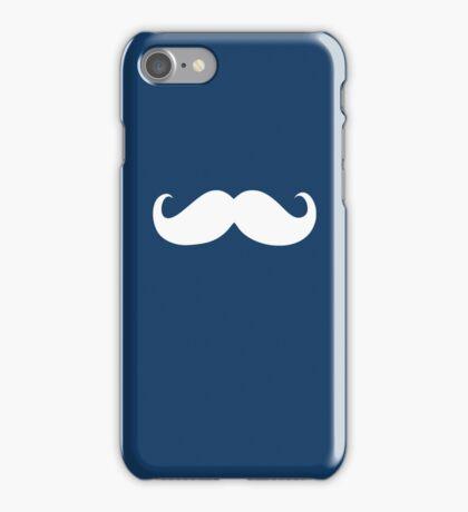 Funny white mustache 24 iPhone Case/Skin
