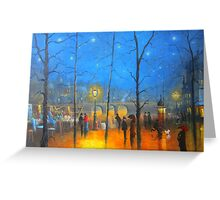Starry Night Paris Greeting Card