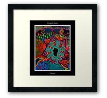 Creativity Black Ligth Framed Print