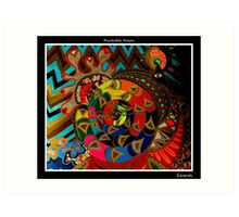 Genesis Black Ligth Art Print
