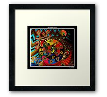 Genesis Black Ligth Framed Print