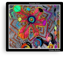 Chakra Healing Black Ligth Canvas Print