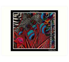 Chakra Sun Black Ligth Art Print