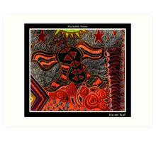 Itacaré Surf Black Ligth Art Print