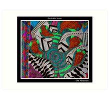 Om Vibration Black Ligth Art Print