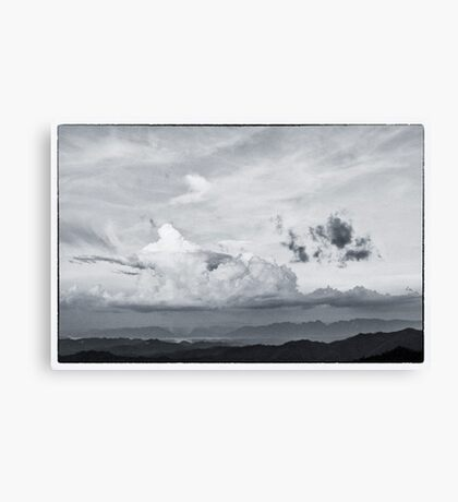 beautiful cloud on the top of mountain Canvas Print