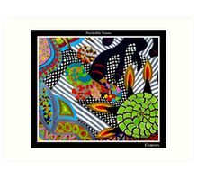 Elements Black Ligth Art Print
