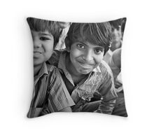 the vitality of india Throw Pillow