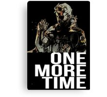Metal Gear Solid - One More Time - White  Canvas Print