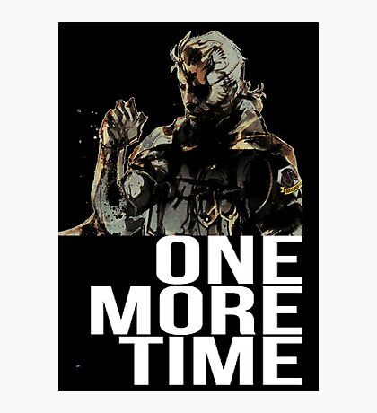 Metal Gear Solid - One More Time - White  Photographic Print