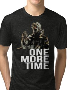 Metal Gear Solid - One More Time - White  Tri-blend T-Shirt