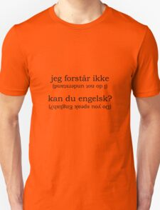 Point & Go Language Traveller Tee - Danish Unisex T-Shirt