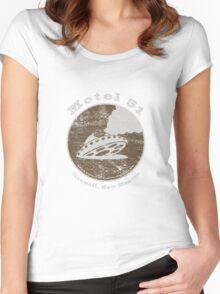 Motel 51 - Roswell Area 51 Alien UFO Women's Fitted Scoop T-Shirt
