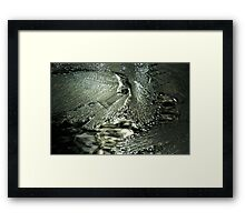 Contrast on Ice - I Framed Print