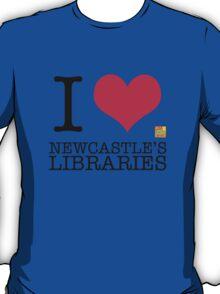 I Love Newcastle Libraries T-Shirt