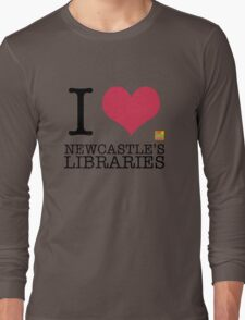 I Love Newcastle Libraries Long Sleeve T-Shirt
