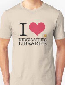 I Love Newcastle Libraries Unisex T-Shirt