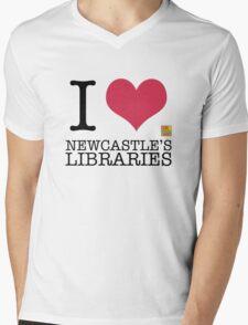 I Love Newcastle Libraries Mens V-Neck T-Shirt