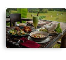 Lunch at Sari Organik Canvas Print