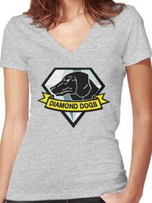 Metal Gear Solid - Diamond Dogs Women's Fitted V-Neck T-Shirt
