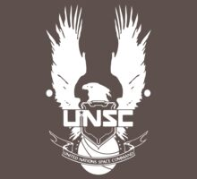 UNSC LOGO HALO 4 - CLEAN LOGO IN WHITE by Republica
