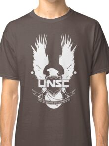 UNSC LOGO HALO 4 - CLEAN LOGO IN WHITE Classic T-Shirt